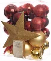 Ambiance christmas kerstboom decoratie set 33 delig