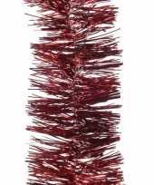 Ambiance christmas kerstboom decoratie slinger donkerrood 270 cm