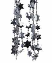 Antraciet kerstboom sterren kralenketting 270 cm
