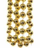 Chique christmas kerstboom decoratie kralenslinger xxl goud 270 cm