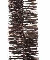 Chocoladebruine kerstboomslinger 270 cm