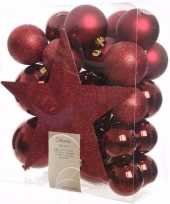 Cosy christmas kerstboom decoratie set 33 delig