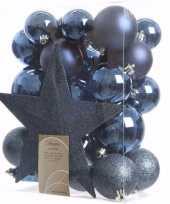 Elegant christmas kerstboom decoratie set 33 delig 10097515