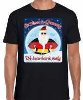 Fout duitsland kerstborrel t shirt christmas in germany zwart voor heren