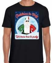 Fout italie kerstborrel t shirt christmas in italy zwart voor heren