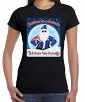 Fout kerstborrel australie t shirt christmas in australia zwart voor dames