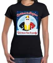 Fout kerstborrel belgie t shirt christmas in belgium zwart voor dames