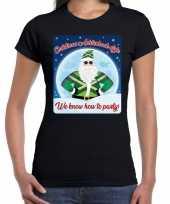 Fout kerstborrel t shirt christmas in achterhoek style zwart voor dames
