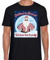 Fout kerstborrel t shirt christmas in brabant zwart voor heren