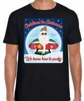 Fout kerstborrel t shirt christmas in suriname zwart voor heren