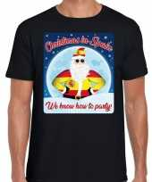 Fout spanje kerstborrel t shirt christmas in spain zwart voor heren