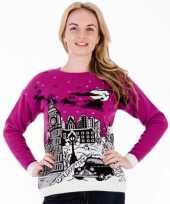 Foute kersttrui pink london voor dames
