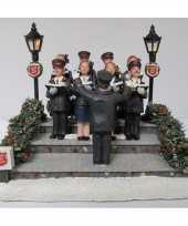 Friese steden kerstdorp accessoire leger des heils koor met geluid