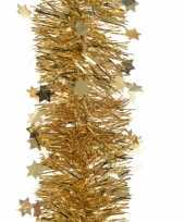 Gouden kerstboom folie slinger met ster 270 cm