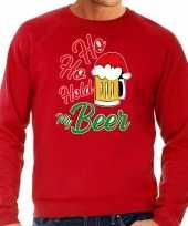 Grote maten rode kersttrui kerstkleding ho ho hold my beer voor heren