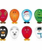 Hobby ballon versieren kerstmis 27 cm