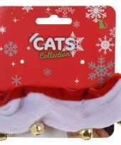 Kerst accessoires halsbanden voor katten poezen