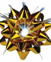 Kerst cadeaustrik met licht 9 cm
