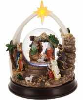 Kerst decoratie glitterbol sneeuwbol 23 cm type 1 met verlichting