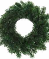 Kerst decoratie groene kerstkrans 35 cm