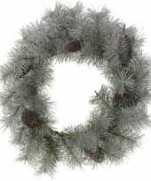 Kerst deurkrans met sneeuw 45 cm