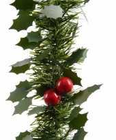 Kerst hulst folie slinger 270 cm