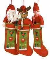 Kerst kous met kerstman