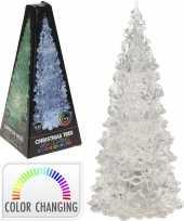 Kerst mini led boompje met gekleurde verlichting 22 cm