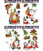 Kerst raam versiering set 12 stuks