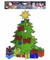 Kerst raamsticker kerstboom