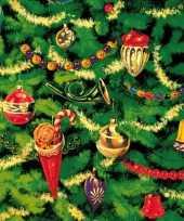 Kerst tafel servetten 33 x 33 cm kerstboom 10098798