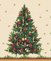 Kerst tafel servetten 33 x 33 cm kerstboom