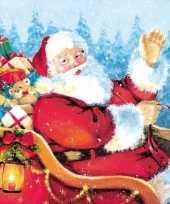 Kerst tafel servetten 33 x 33 cm kerstman