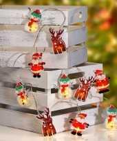 Kerst thema lichtsnoeren met 10 kerstfiguren led verlichting