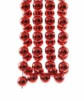 Kerst xxl kralen guirlandes kerst rood 270 cm kerstboom versiering decoratie 2 stuks