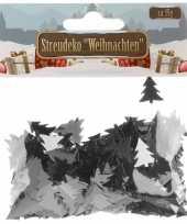 Kerst zilveren kerstboom strooidecoratie 15 gram
