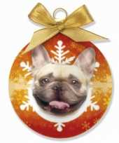 Kerstbal franse bulldog 8 cm