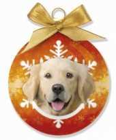 Kerstbal golden retriever 8 cm