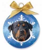 Kerstbal hond rottweiler 8 cm