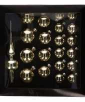 Kerstballen goud 21 stuks