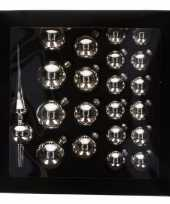Kerstballen zilver 21 stuks