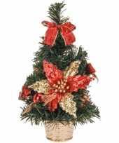 Kerstboom rood gouden decoratie 30 cm