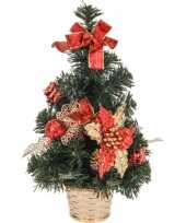 Kerstboom rood gouden decoratie 40 cm