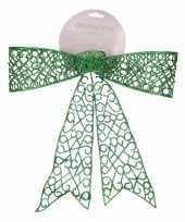 Kerstboom strik groen 36 cm