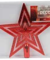 Kerstboompiek rode ster 21 cm