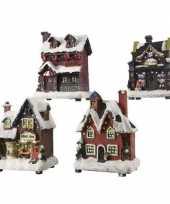 Kerstdorp maken kersthuisjes bakkerij 12 cm met led lampjes