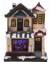 Kerstdorp maken led verlichte kersthuisje type 2