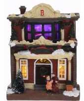 Kerstdorpje led verlichte kersthuisjes type 3