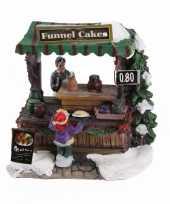 Kersthuisje funnel cake kraam