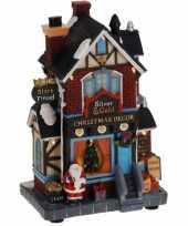 Kersthuisje kerstversieringwinkel